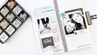 viele bunte Distress Techniken im danidori Memory Notebook ♥