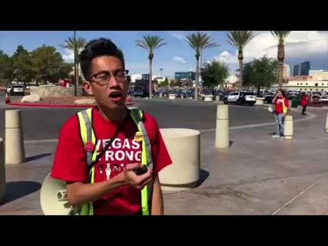 Las Vegas union members voting to authorize the right to strike