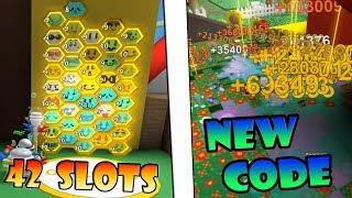 *42Hive slots* & New OP Code!!! - Roblox Bee swarm simulator