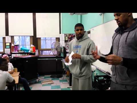 Detroit Lions Visit Golightly Education Center, Part 1 - Athletes For Charity