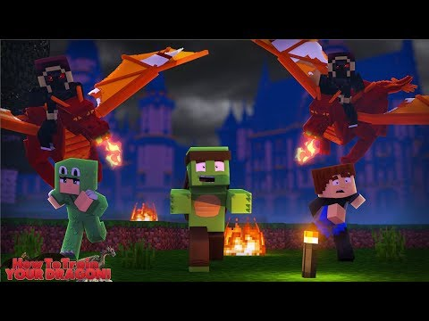 TRAINING OUR NEW DRAGON ARMY TO TAKE ON THE FIRE NATION - Minecraft HOW TO TRAIN YOUR DRAGON