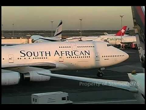 South African Airways 747-444 ZS-SAK takeoff New York Kenned