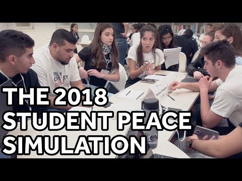 What's It Like to be in the Largest Student Peace Negotiation? | Leon Charney Reporters