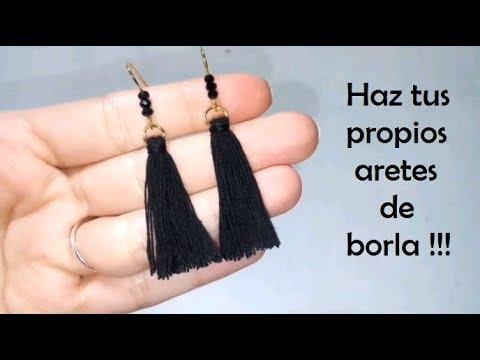 6c8d3d73d7ef Haz tus propios aretes de borla !!! - YouTube
