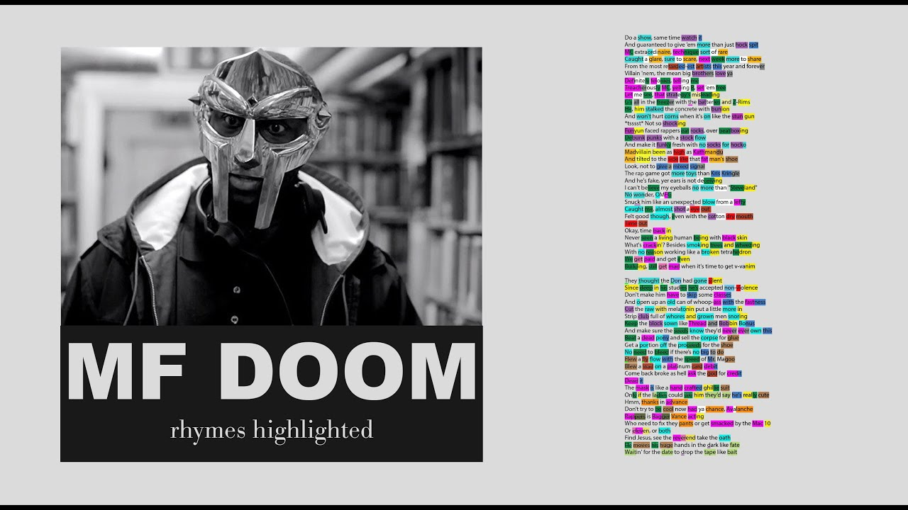 MF DOOM - Avalanche - Lyrics, Rhymes Highlighted (159)