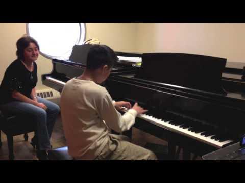 Piano Lesson: A minor scales, Teacher, Irina Morozova