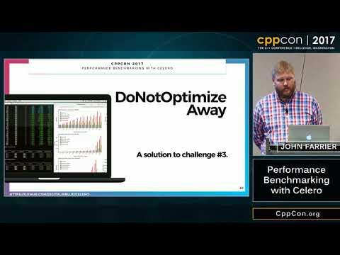 "CppCon 2017: John Farrier ""Performance Benchmarking with Celero"""