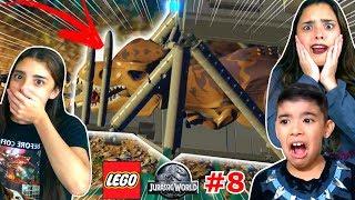 CAPTURAMOS O TIRANOSSAURO REX !!! #8 (LEGO JURASSIC WORLD) WE CAPTURE THE TYRANNOSAURUS REX