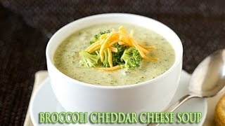 BROCCOLI CHEDDAR SOUP - Copycat Panera Broccoli Cheese Soup