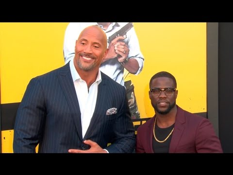 Dwayne Johnson & Kevin Hart at the Central Intelligence Premiere