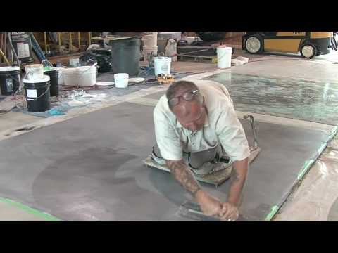 Concrete Resurfacing - Skimcoat Overlay Application