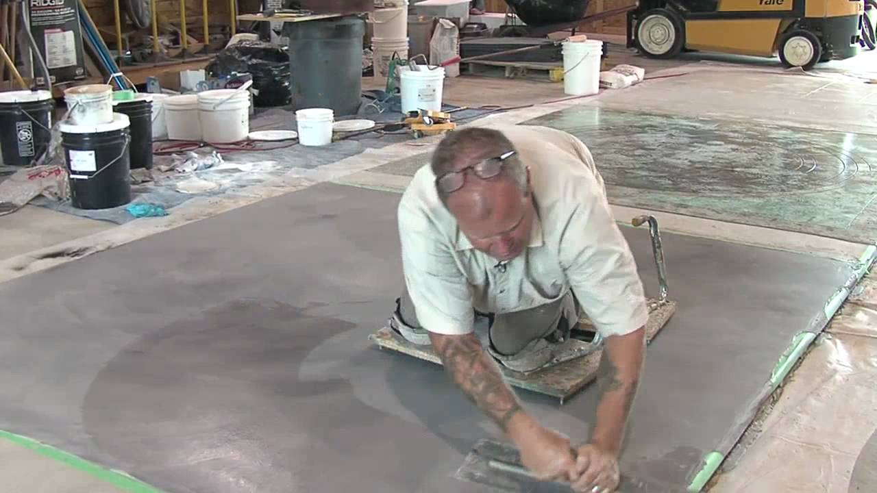 concrete resurfacing skimcoat overlay application