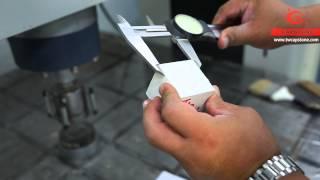 Contrôle de qualité à la réception Test de plâtre en cube