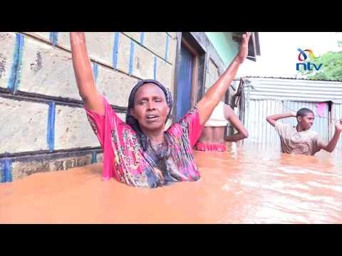 Flood water rises to shoulder level around Garissa town