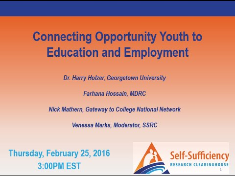 Connecting Opportunity Youth to Education and Employment