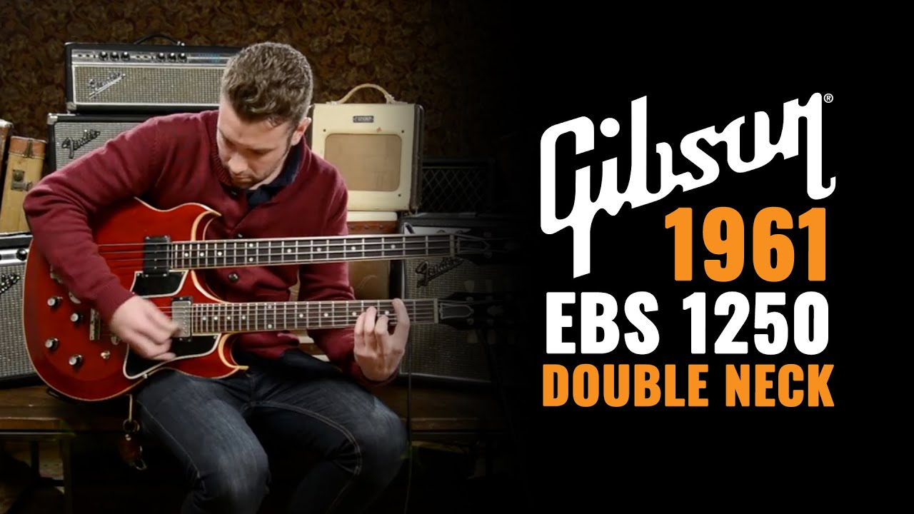 1961 gibson ebs 1250 double neck guitar