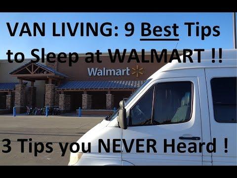 Van Living: 9 Great Tips to Sleep at Walmart / 3 Tips you NEVER Heard!