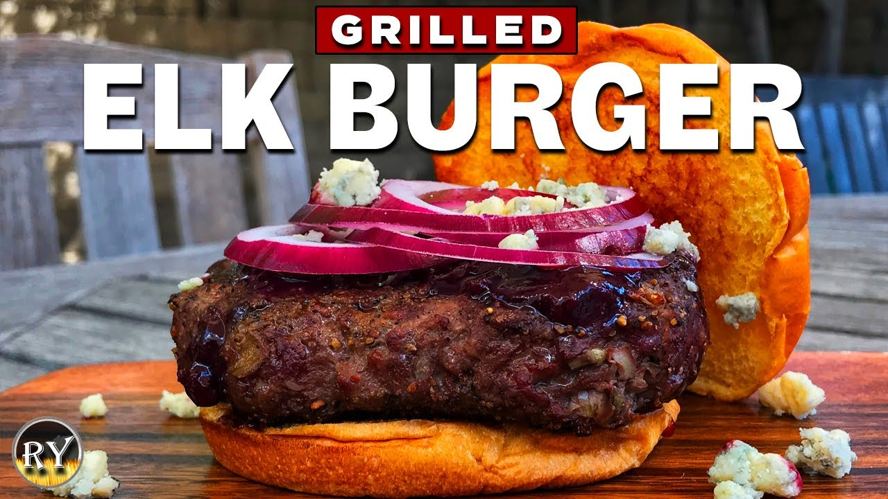 Grilled Elk Burger With Homemade Blueberry Bbq Sauce Youtube