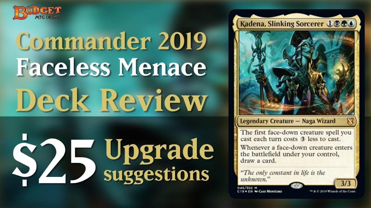 Upgrading Faceless Menace | Commander 2019 Deck Review
