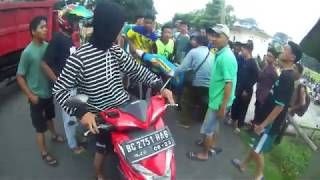 Hati Hati Di Jalan Raya   Crash Ringan, Ojol Vlog Lubuk Linggau