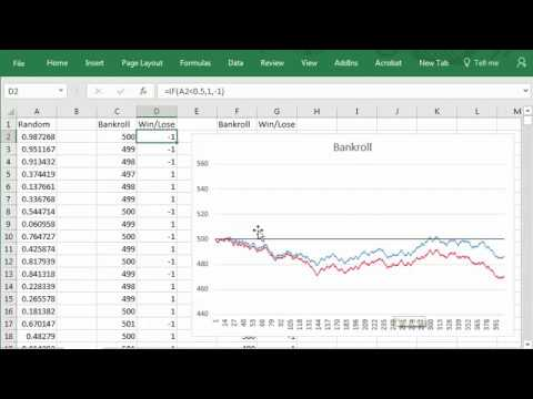 Gambling Simulation Excel Spreadsheet