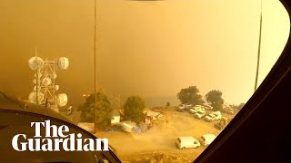 Woolsey fire: California firefighters release footage of mountain helicopter rescue