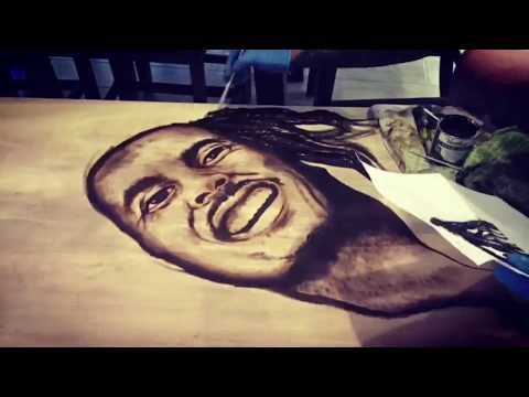 DIY - Bob Marley Stain Art Coffee Table - by Karen Governale
