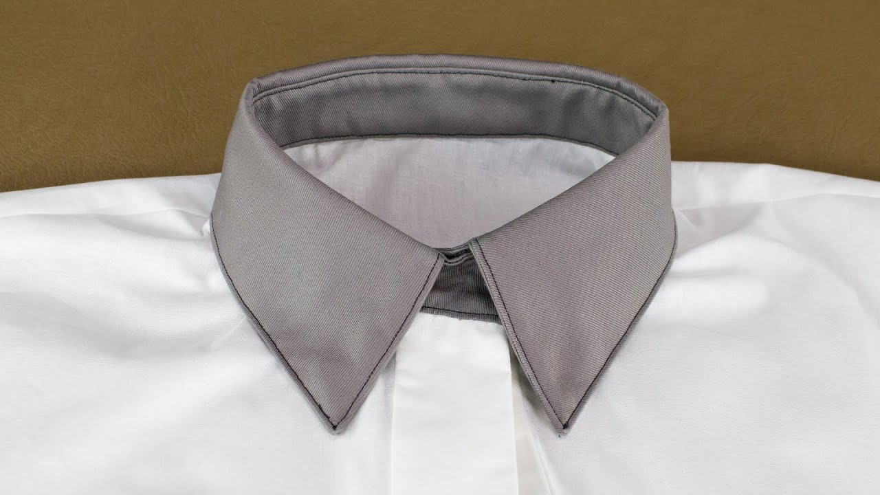 How to sew a shirt collar youtube jeuxipadfo Image collections