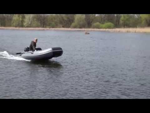 suzuki df6 + ПВХ лодка Лоцман 330 первое глиссирование