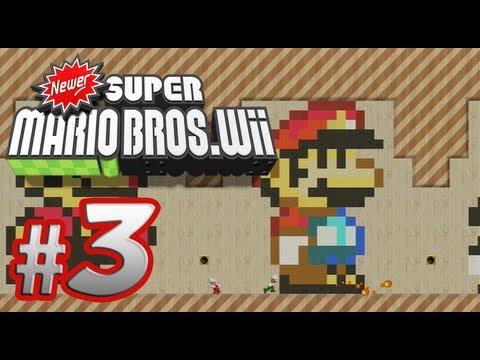 Newer Super Mario Bros. Wii - 100% Co-op Walkthrough Part 3