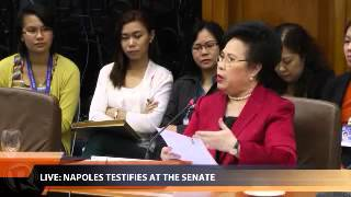 Miriam asks Napoles to answer truthfully, clarifies