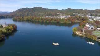 神奈川県 相模原市 城山ダム(津久井湖)ドローン空撮