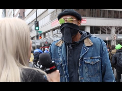 RAW: Violent anti-Trump protest near Inauguration