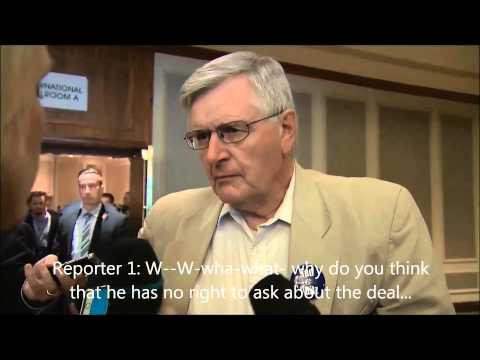 Conservative Party of Canada Member Verbally Assaulting the Canadian Media August 18, 2015