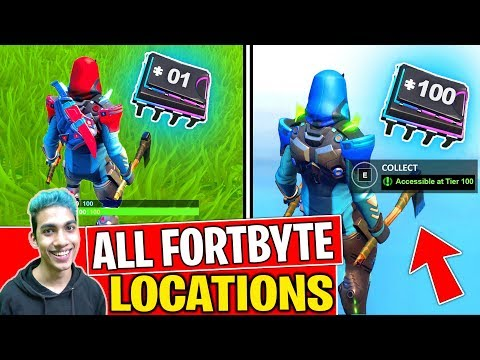 *NEW* ALL FORTBYTE LOCATIONS (1-100) FORTBYTES FORTNITE SEASON 9! - Fortbyte Challenges (PART 3)