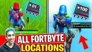 *NEW* ALL FORTBYTE LOCATIONS FORTNITE SEASON 9 UPDATED! - Collect All Fortbytes Challenges (PART 3)