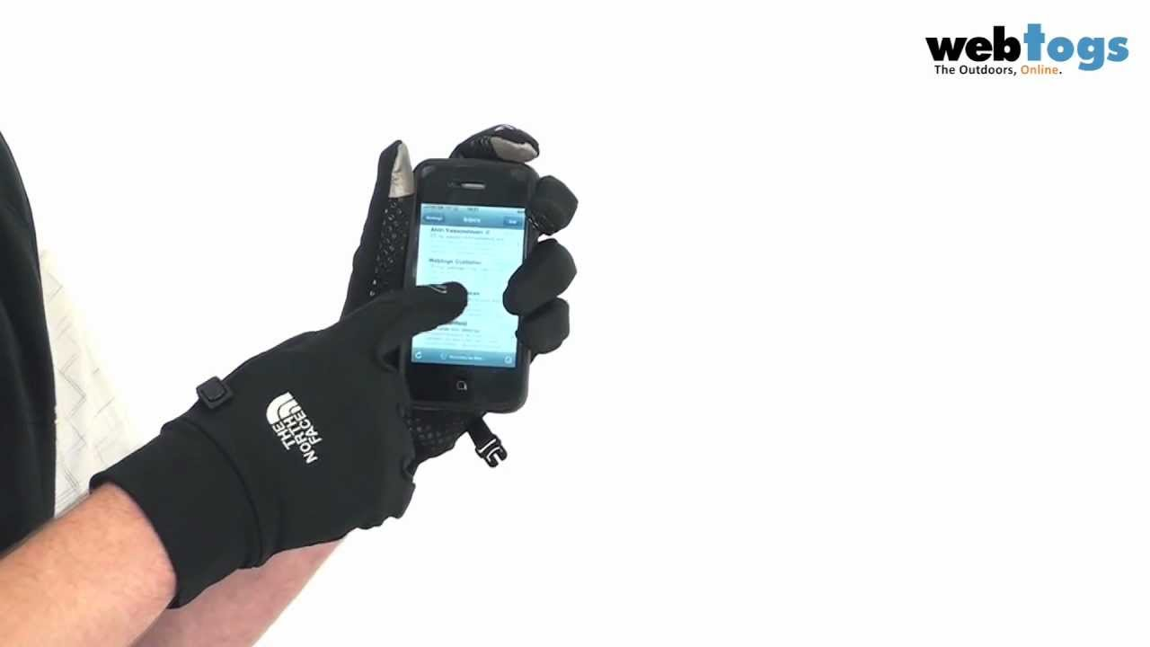 Mens gloves use iphone - The North Face Etip Gloves Use Your Touchscreen Whilst Hands Keep Warm Youtube