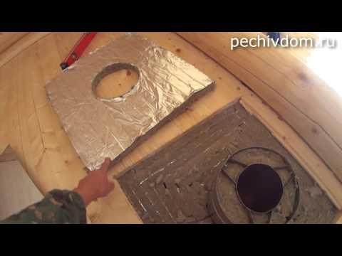 Как правильно вывести трубу в бане через потолок