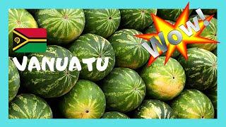VANUATU, the graphic fruit and produce market of PORT VILA, PACIFIC OCEAN