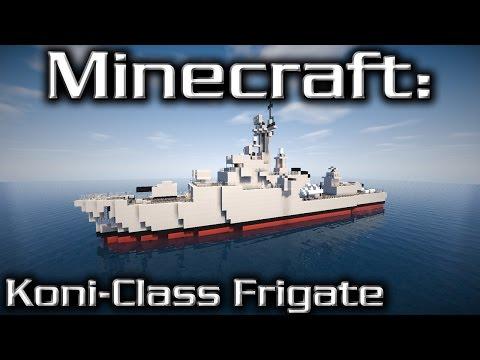 Minecraft: Frigate Tutorial (Koni-Class)