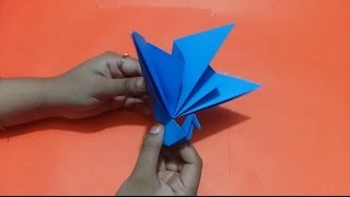 How to make simple peacock paper craft origami