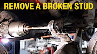 How to Remove a Broken Stud Using a Drill - Eastwood