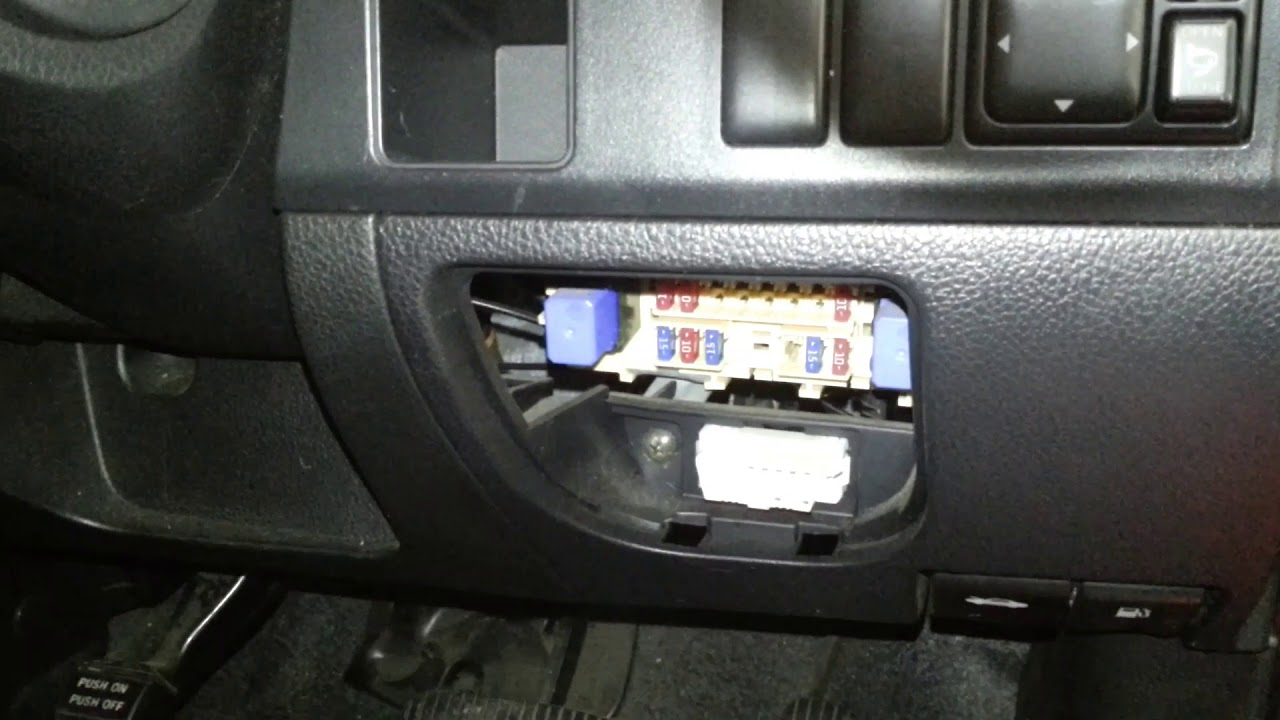 2005 Nissan Note Fuse Box Location And Card Youtube External