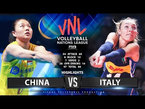 CHINA vs ITALY - HIGHLIGHTS (Final Round Pool A) | Women's VNL 2019