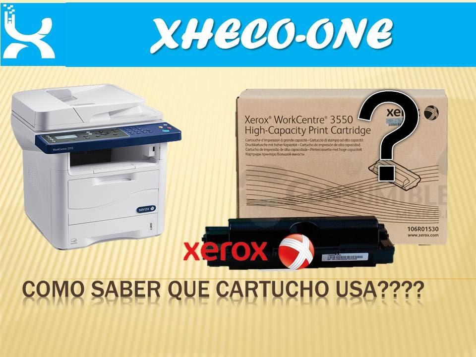 Recarga-Cartucho Xerox no lo reconoce  posible solución