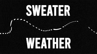 Sweater Weather - The Neighbourhood (lyric video) (Max & Alyson Stoner Cover)