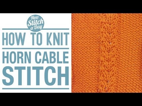 How To Knit The Horn Cable Stitch English Style Youtube