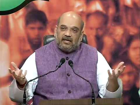 Press Conference by Shri Amit Shah at BJP HQ : 27.5.2016