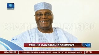 Atiku Releases Policy Document Detailing 4-Point Agenda 18/11/18 Pt.1 |News@10| thumbnail