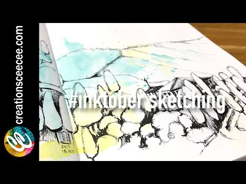 inktober real-time sketching
